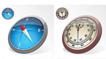Relojes, compases y velocímetros