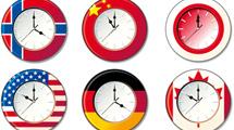 Relojes con marco de banderas