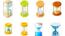 Relojes de arena variados en formato vector