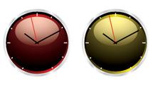 Relojes de colores con brillo