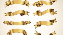 Ribbons dorados
