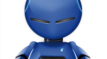 Robot azul con detalles en negro