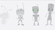 Robots plateados