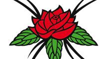 Rosa con puntas