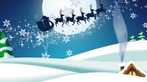 Santa Claus volando