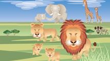 Selva con animales