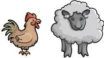 Set: animales de granja