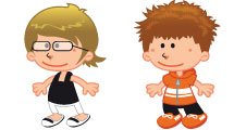 Set: caricaturas de niños