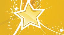 Set con estrellas amarillas