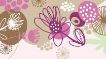 Set con flores pintadas