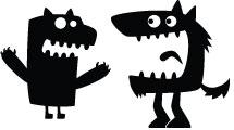 Set con siluetas de monstruos