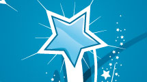 Set de estrellas azules