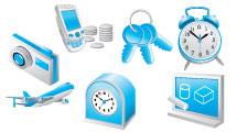 Set de iconos azules