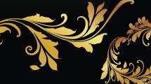 Set: elementos vintage en dorado
