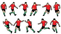 Set: jugadas de fútbol