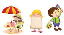 Set: Niños divertidos