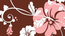 Silueta con fondo floral