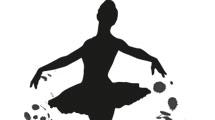 Silueta de bailarina clásica en negro