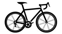 Silueta de bicicleta en negro