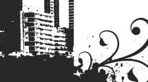 Silueta de ciudad grunge