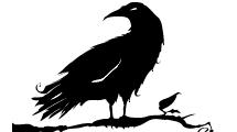 Silueta de Cuervo