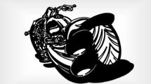 Silueta motocicleta