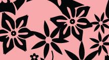 Silueta rosa en degradé