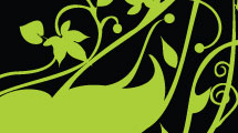 Silueta verde en degradé