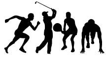 Siluetas de Atletas
