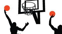 Siluetas de basquetbol