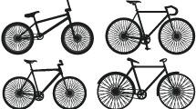 Siluetas de bicicletas en negro