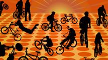 Siluetas de bicicletas