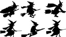 Siluetas de brujas