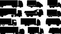 Siluetas de camiones variados