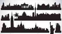 Siluetas de ciudades famosas