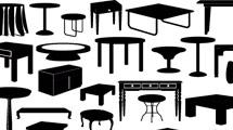 Siluetas de mesas de todo tipo