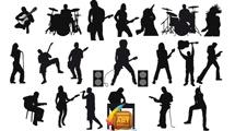 Siluetas de músicos