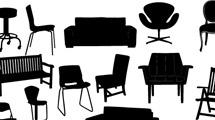 Siluetas de muebles variados