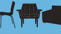 Siluetas de muebles