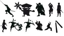 Siluetas de ninjas