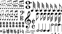 Siluetas de notas musicales variadas en negro