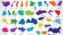 Siluetas de países europeos
