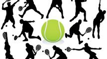 Siluetas de tenis