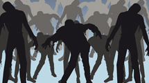 Siluetas de zombies