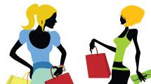 Siluetas femeninas con bolsas