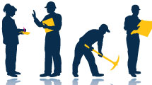 Siluetas: trabajadores