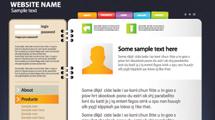 Sitios web completos en formato vector