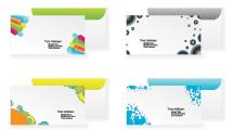 Sobres de colores con tarjetas