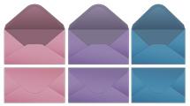 Sobres de colores lisos
