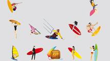 Surfers en color